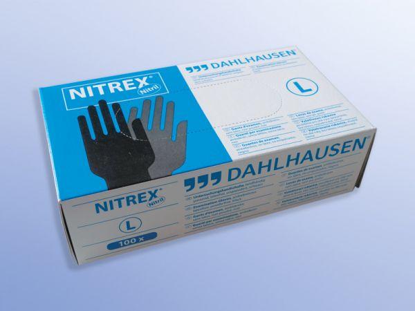 Nitrex-Handschuhe, ungepudert, schwarz